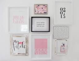 Chic Office Desk Office Desk Styling Wall Collage Got Married