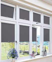 blackout lava grey perfect fit roller blind for upvc windows u0026 doors