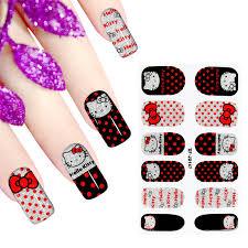 popular hello kitty design nails buy cheap hello kitty design