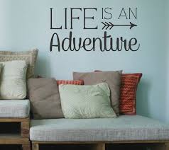Design Wall Stickers Life Is An Adventure Vinyl Wall Decal Wall Quotes Family Quotes