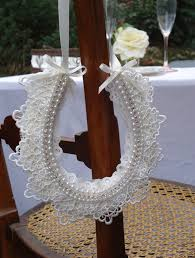 personalized horseshoes personalized handmade vintage style lace pearl and diamante