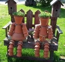 Do It Yourself Garden Art - pot people garden gardening idea gardening ideas gardening decor