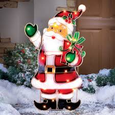 light up santa outdoor decoration from collections etc