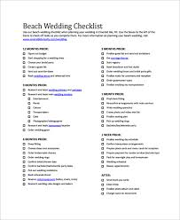 wedding checklist sle wedding checklist 19 documents in pdf word