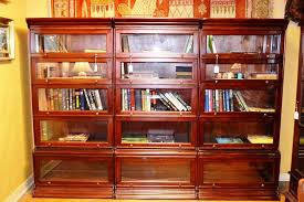 Wood Bookcase With Doors White Bookcases With Glass Doors Dans Design Magz Beautiful