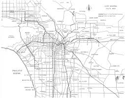 Map Of West Los Angeles by Monorails Historic Visions Of The Future The American Monorail