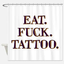 Curtain Tattoo Funny Eat Tattoo Shower Curtains Funny Eat Tattoo