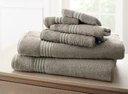 6 bamboo towel set