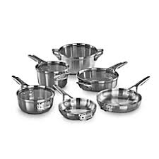 Calphalon Stainless Steel Toaster Calphalon Premier Space Saving Stainless Steel 10 Piece Cookware