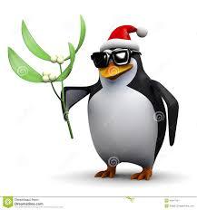 3d penguin holding some mistletoe stock illustration image 45917461