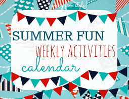 jenny free style summer fun weekly activities calendar free