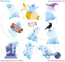 clipart of halloween clipart of halloween ghosts in multiple poses royalty free