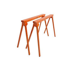 Home Depot Folding Hand Truck by Portamate 36 In Folding Metal Sawhorse Pair Pm 3300t The Home