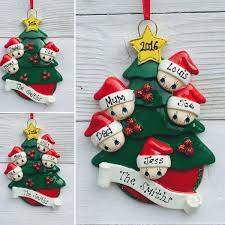 personalised family christmas xmas tree decoration christmas