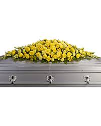 casket spray golden garden casket spray sympathy arrangement teleflora