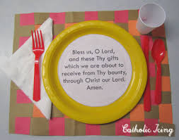 grace before meals craft for catholic dinner prayer