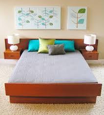 furniture floating bed frame platform bed frame plans