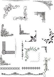 design black and white pattern border free clip
