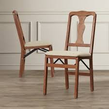 Dining Folding Chairs Folding Kitchen Dining Chairs You Ll Wayfair
