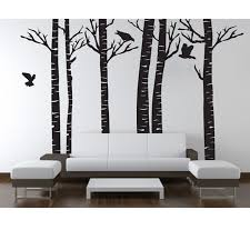 birch trees wall decal walls