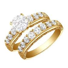 cheap gold wedding rings bridal set wedding rings in yellow gold the wedding