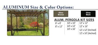 8 X 10 Pergola by Aluminum And Vinyl Pergolas Superior Plastic Products