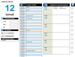 tips membuat jadwal kegiatan harian jadwal kerja harian office templates