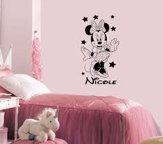 amazon com name wall decal minnie mouse disney vinyl decals amazon com name wall decal minnie mouse disney vinyl decals sticker custom decals personalized baby girl name decor bedroom nursery baby room decor zx58