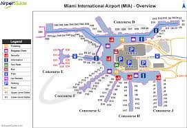 Map Of Chicago Airport by Miami International Airport Map Map Of Miami International