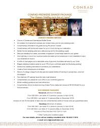 wedding planner packages amazing of wedding planner services list conrad centennial hotel