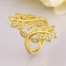 ladies rings designs images Gold ladies ring design new trendy innovative design inlay zircon jpg