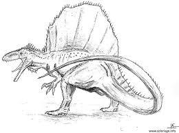 coloriage spinosaurus dinosaure jecolorie com
