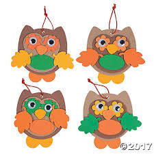 color owl ornament craft kit