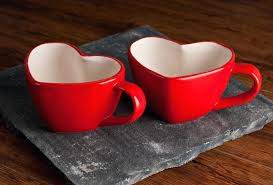 heart shaped mugs that fit together heart shaped coffee mug 1 pair plastic and white