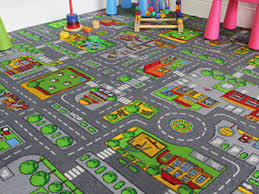 Kid Play Rugs 64 Play Rugs With Roads Hearthsong Reversible Roadway Play