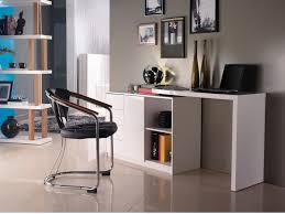 vente unique bureau bureau extensible pavel 4 tiroirs 1 porte laqué blanc