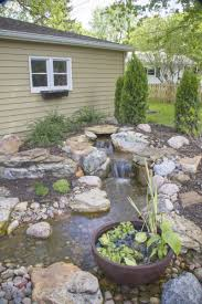 Tiered Backyard Landscaping Ideas Great Outdoor Patio Waterfalls Landscape Ideas For Water Runoff