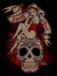 sugar skull pin up this is it sooo the start of my