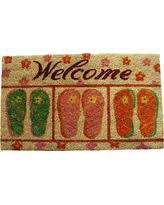 Flip Flop Rugs Autumn Special Colorful Flip Flops Starfish Beach Theme Welcome
