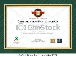 vectors illustration of certificate of participation template in