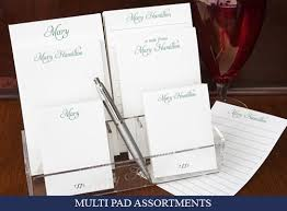 personalized stationery sets complete selection of quality personalized notepads