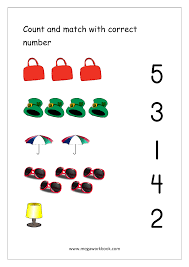 matching numbers worksheet worksheets