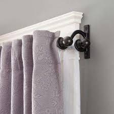 double curtains rods ideas curtains u0026 windows