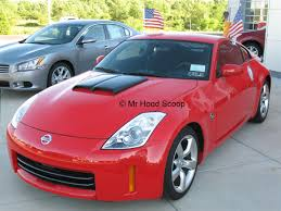 Nissan 350z Red - 350z hood scoop hs002 by mrhoodscoop