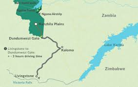 Victoria Falls Map Getting To Nanzhila Nanzhila Plains Kafue Lodge Accommodation