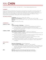 resume sample software engineer resume for study