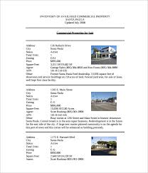 sample property inventory template 9 free documents download in pdf