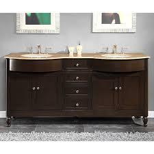 Bathroom Vanity 72 Inch Silkroad Exclusive 72 Inch Travertine Stone Top Double Sink