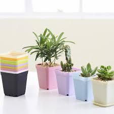 Square Planter Pots by Newest Bonsai Planters Plastic Table Mini Succulents Plant Plate
