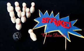 bowling cake toppers bowling cake toppers fondant bowling theme cake topper kit